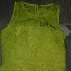 J Crew Yellow Lace Dress Size 00